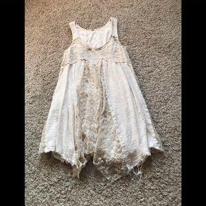 Free People | cream lace babydoll dress